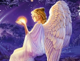 "Diamond painting ""Angel in the night"""
