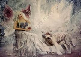 "Diamond painting ""Elf with tiger"""