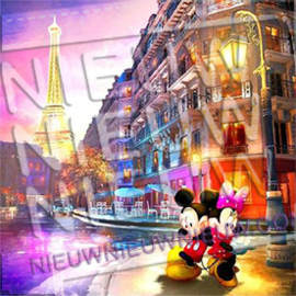 "Diamond painting ""Mickey and Minnie Mouse in Paris"""