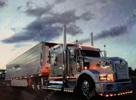 "Diamond painting ""Silver American truck"""