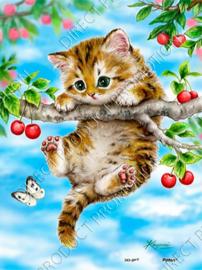 """Diamond painting """"Kitten"""""""