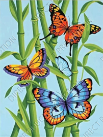 "Diamond painting ""Butterflies on bamboo"""