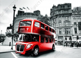 "Diamond painting ""English bus"""