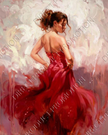 "Diamond painting ""Lady in flamenco dress"""