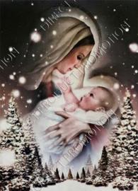 "Diamond painting ""Maria and baby"""