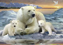 """Diamond painting """"Polar bears"""""""