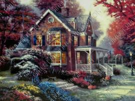 "Diamond painting ""House of wood"""