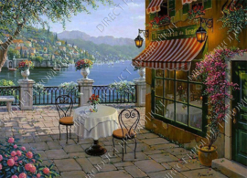 "Diamond painting ""Terrace at the sea view"""