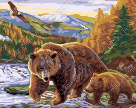 "Diamond painting ""Bear with cub"""