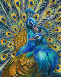 "Diamond painting ""Peacocks"""