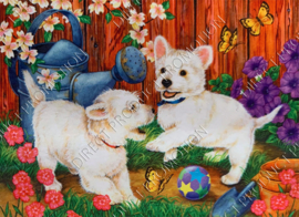 """Diamond painting """"West highland white terriers"""""""