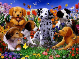 "Diamond painting ""Puppies"""