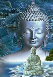 "Diamond painting ""Buddha on water lily"""
