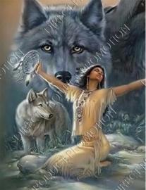 "Diamond painting ""Indian girl"""