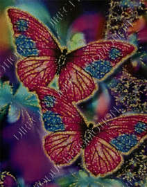 """Diamond painting """"Colorful butterflies"""""""