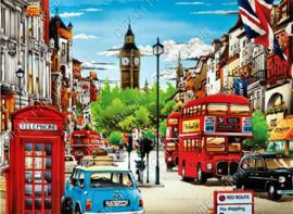 "Diamond painting ""London street with Big Bang tower"""