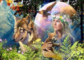 "Diamond painting ""Lady of nature"""