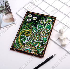 "Diamond Painting Notitieboek ""Grote bloemen"""