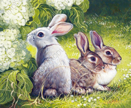 "Diamond painting ""Rabbits"""