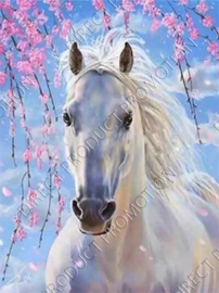"Diamond painting ""Gray horse"""