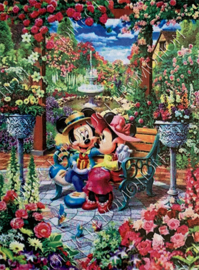 "Diamond painting ""Mickey and Minnie in the garden"""
