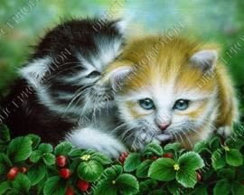 """Diamond painting """"Catkins among strawberry plants"""""""
