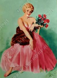 """Diamond painting """"Marilyn Monroe in pink dress"""""""
