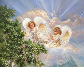 "Diamond painting ""Angels"""
