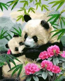 """Diamond painting """"Panda with cub"""""""