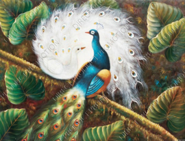 "Diamond painting ""Two peacocks"""