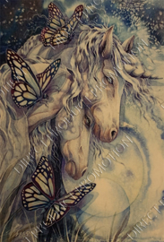 "Diamond painting ""Unicorns with butterflies"""