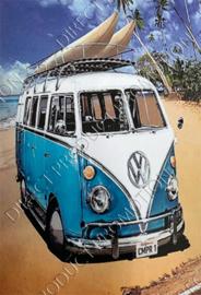 "Diamond painting ""Blue VW"""