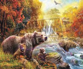"""Diamond painting """"Bears family"""""""