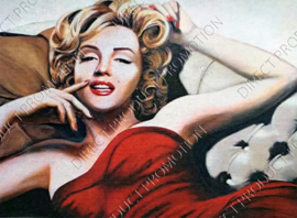 """Diamond painting """"Marilyn Monroe on the couch"""""""