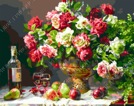 "Diamond painting ""Bouquet with wine"""
