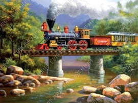 "Diamond painting ""Locomotive"""