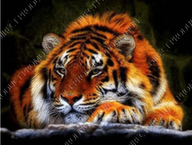 "Diamond painting ""Resting tiger"""