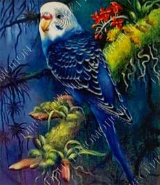 """Diamond painting """"Blue parakeet"""""""