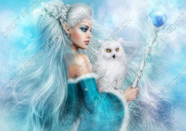 "Diamond painting ""Snow Elf Queen"""
