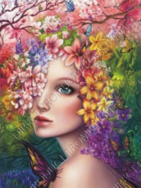 "Diamond painting ""Flower fairy"""