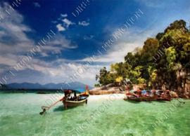 """Diamond painting """"Fishing boats"""""""
