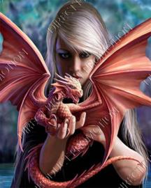 """Diamond painting """"Dragon lady"""""""
