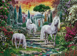 "Diamond painting ""Three unicorns"""