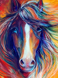"Diamond painting ""Horse head"""