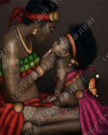 "Diamond painting ""African woman with child"""