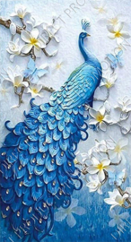 "Diamond painting ""Blue peacock"""