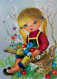 """Diamond painting """"Girl on stump"""""""