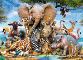 "Diamond painting ""Happy animals"""