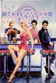 "Diamond painting ""Hollywood diner"""