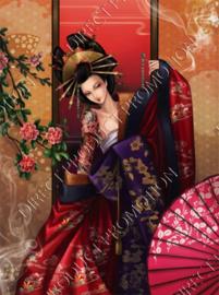 """Diamond painting """"Japanese geisha"""""""